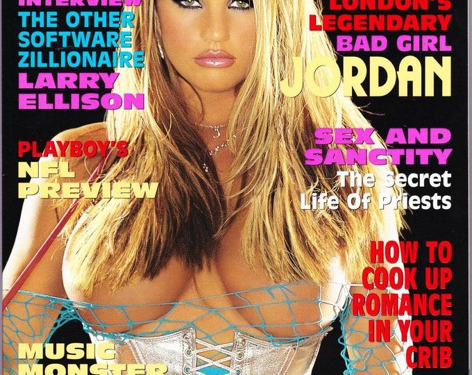 Playboy Magazine September 2002 With Britain's Bad Girl Jordan, Shallan Meiers, Oracle's Larry Ellison and Singer Lenny Kravitz