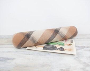 Vintage Seam Press Roll, plaid wool by Shape Ease