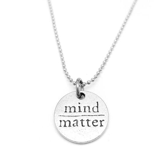 Diet Motivation -  Mind Over Matter Necklace - Gym Necklace - Workout Jewelry - Gym Necklace - Fitness Motivation - Gym Gift for Her