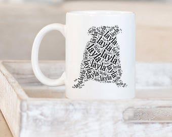 English Bulldog Customized Gifts | Dog Mug | Word Art | Gifts for Dog Lovers | Dog Silhouette | Dog Gifts | English Bulldog Memorial Gifts