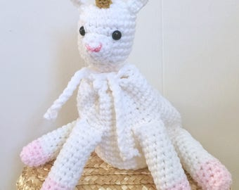 Crocheted Unicorn / Pony Pouch - Dice Bag, Coin Purse, Amigurumi