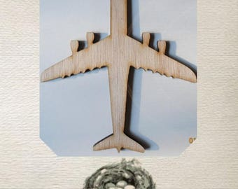 Airplane/Jet Wood Cut Out - Laser Cut