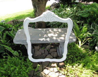 """Large White Ornate Picture Frame 31"""" x 23""""~Vintage Gallery Wall Mantel Mirror Frame~White Shabby Chic Cottage~Wedding Menu Seating Chart"""