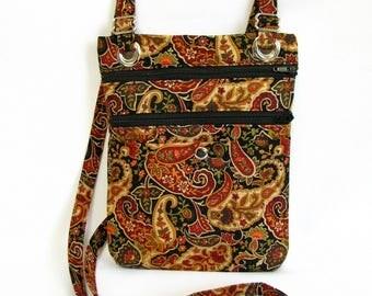 Large hip bag- Paisley cotton