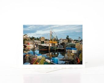 Menemsha Fishing Village, Martha's Vineyard Photography, Boats, Photographs, Photos, Blank Photo Greeting Cards, Photography Card Sets
