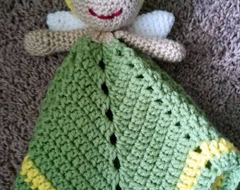 Fairy/Tinker Bell Inspired Lovey/Security Blanket