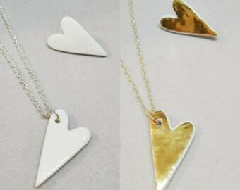 """Collection """" Coeur""""  bijoux en porcelaine"""