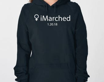 Womens march shirt, nasty woman shirt, womens march 2018, hoodie sweatshirt, imarched apple, feminism shirt, feminist shirt, gfit for her
