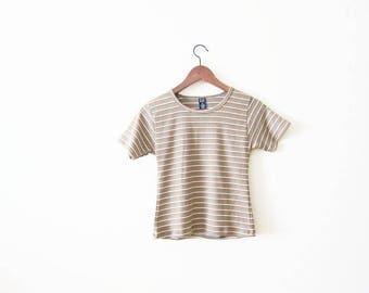90s shirt / striped shirt / 90s striped t shirt/ womens 90s t shirt / 90s gap shirt / thin striped shirt / grunge shirt / 90s clothing