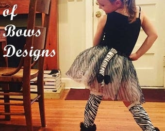 Zebra Tutu Costume, Toddler Girl Halloween Costume. Girls Halloween Costume, Zebra Ears and Tail