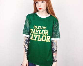 RARE One of a Kind Baylor University Mesh Jersey 70's Vintage Tee T Shirt // Unisex Men's Women's