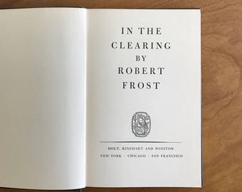vintage robert frost poetry book   in the clearing