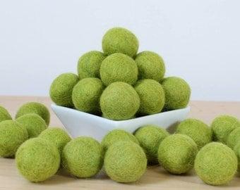 Felt Balls: CITRUS GREEN, Felted Balls, DIY Garland Kit, Wool Felt Balls, Felt Pom Pom, Handmade Felt Balls, Green Felt Balls, Green Pom Pom