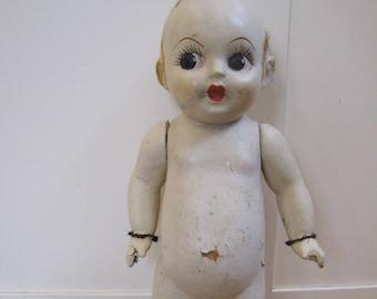 1920's Large Carnival Kewpie Doll, Cupie Doll, 1920's Doll, Flapper Doll, Kewpie Doll, Composite Doll, Vintage Doll, Antique Doll, Doll