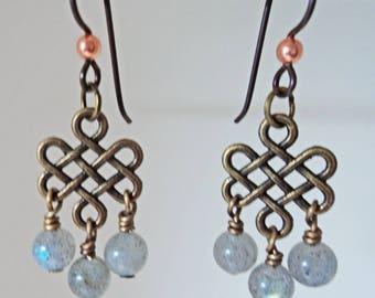 Labadorite Dangle Earrings