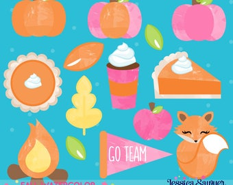 INSTANT DOWNLOAD - Fall Watercolor Clipart for planner stickers, classroom decor, or scrapbooking