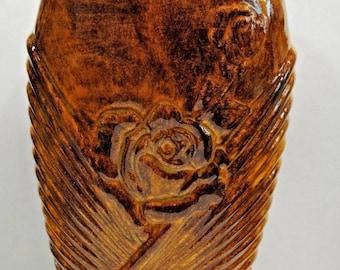 Golden Brown Ceramic Vase.Handmade Ceramic Vase.Olga's Treasures Shop