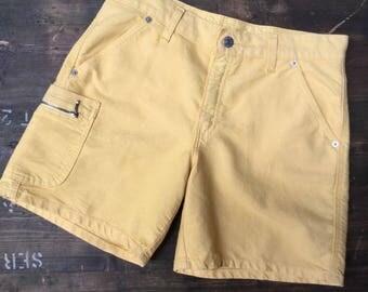 Yellow Levi Strauss Denim Shorts