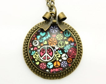 Necklace peace and love 2525C