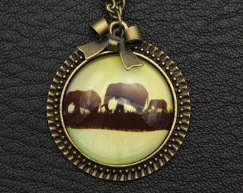 Necklace Three elephants 2525C