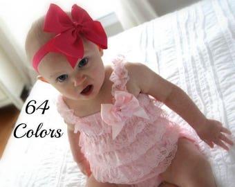 Baby Bow Headband, Bow Headband, Baby Hair Bows, Girls Headbands, Toddler Headband, Baby Headbands, 6 inch Hair Bows, Big Baby Bows, Bows