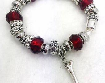 Femur Bone Charm Bracelet