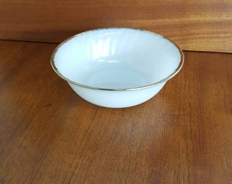 Large Anchor Hocking Fire King Milk Glass Serving Bowl