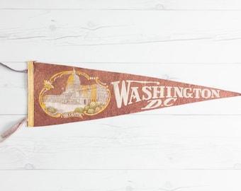 Vintage Washington DC Felt Pennant
