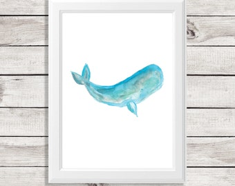whale art print - whale art - whale painting - whale watercolor painting - i whale always love you - watercolor art - watercolor whale