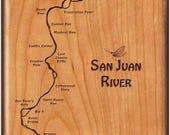 SAN JUAN River Map Fly Bo...