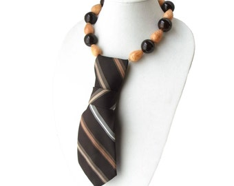 OLD SCHOOL FLAIR necktie necklace seventies vintage ladies necktie trending feminine necktie retro women's necktie modern necktie business