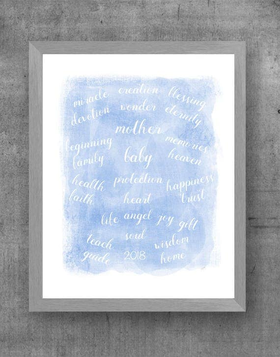 New Mother Gift, 8x10, 11x14 Blessings Print