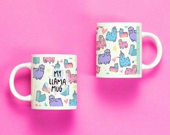 My Llama Mug: coffee and tea mug gift for alpaca & animal lover, or funny housewarming gift for pet or animal owner!