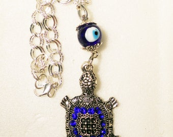 Sea turtle car rear view mirror charm, car accessories,  Easter gift, car charm Evil eye, turtle charm, beach gifts, gifts for new drivers