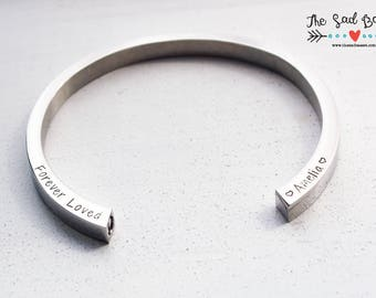 Cremation Urn Cuff Bracelet | Personalized Hand Stamped Cremation Jewelry | Cremation Urn | Memorial Jewelry | In Loving Memory | Pet