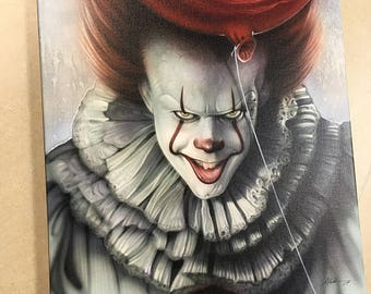 Pennywise Artist Signed 14x18 Canvas Print