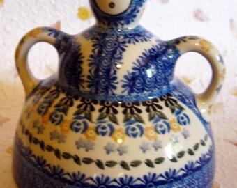 Boleslawiec - Old Polish Cheese Lady, Large - Polish Pottery