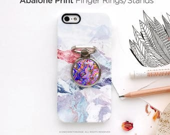iPhone Ring Stand Abalone Print Ring Stand Phone Mount Holder iPhone Ring Case iPhone Ring Grip iPhone Ring Case Finger Ring 14.