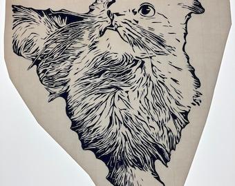 Vinyl cat decal in dark navy blue