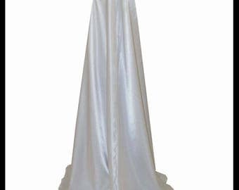 Beautiful Shimmer Organza Cloak lined with double layer of Shimmer Satin. Ideal for a Wedding, Hand Fasting. Made to Measure.