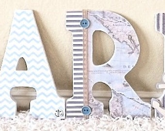 Nursery Wall Letters   Nursery Decor   Wooden Letters Wall Hanging   Wall  Art Decor