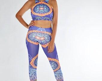 Ethnic Leggings, Printed Leggings, Yoga Leggings, Yoga Pants, Gym Leggings, Stretch Leggings, Workout Pants, Handmade Leggings, Woman Pants
