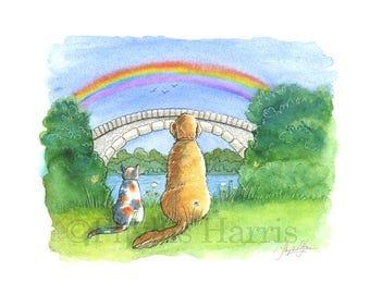 The Rainbow Bridge - Beloved Pet Art