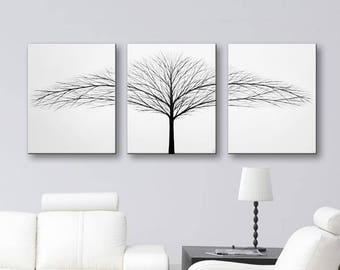 Canvas Art Black And White Art Bedroom Wall Decor 3 Piece Wall Art Large Wall  Art