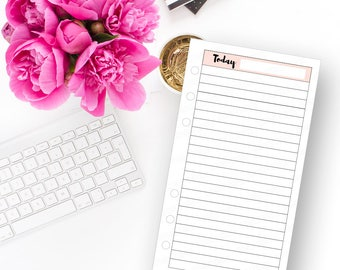 Today Daily Planner Insert - Instant Download