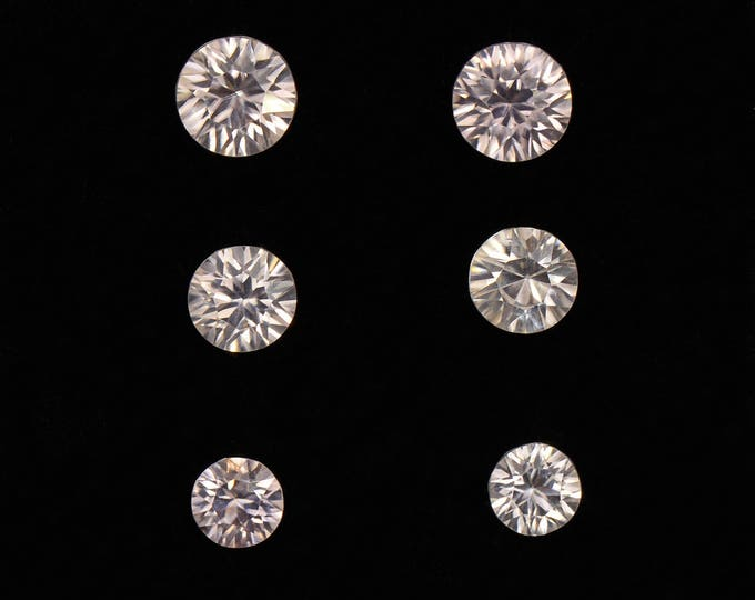 UPRISING SALE! Excellent Silvery Zircon Gemstone Set from Australia 2.48 tcw.