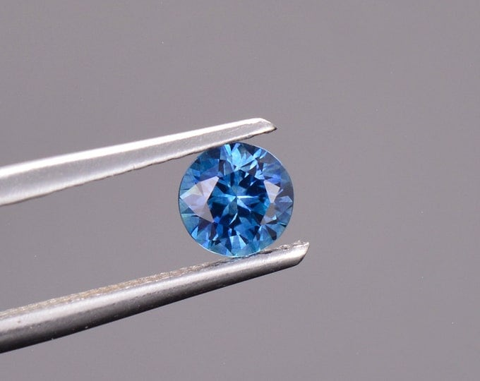 SALE EVENT! Blue Sapphire Gemstone from Montana, Round, 0.51 cts., 4.6 mm.