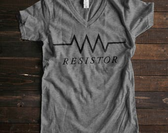 Resist Shirt Resistance Shirt Resistor Shirt Resist TShirt Science Teacher Gifts for Teachers Circuit Shirt Womens Graphic Tees for Women