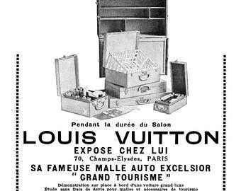 Rare Vintage Louis Vuitton Ad 1923