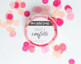 Party Confetti - Coral Crush - Coral, Pink, Blush Confetti - Coral Party Decorations